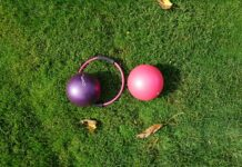 pilates balls and hoop