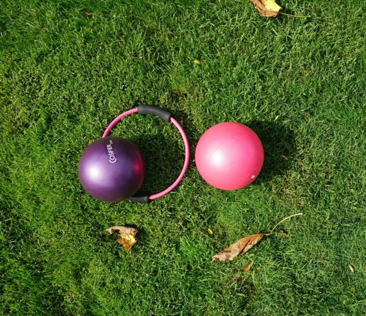 pilates balls and hoop