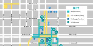 Downtown Pensacola Parking Map