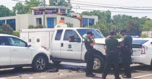 vehicles damaged after crash
