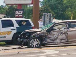 car damaged after crash