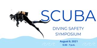 SCUBA diving event flyer